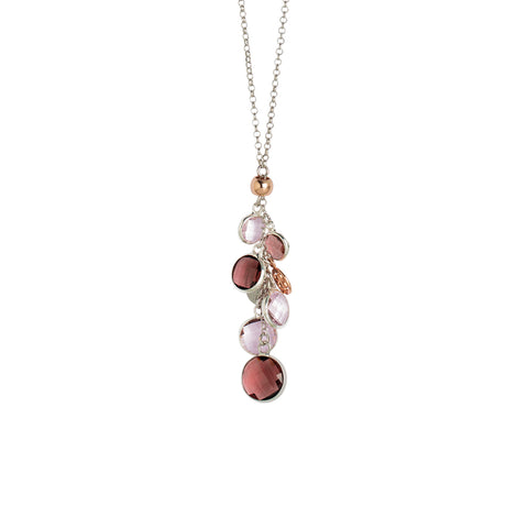 Related product : Collana bicolor con cristalli ametista e light pink