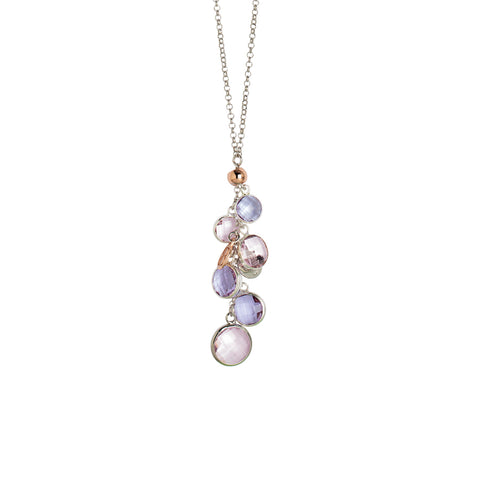 Related product : Collana bicolor con cristalli light amethyst e light pink