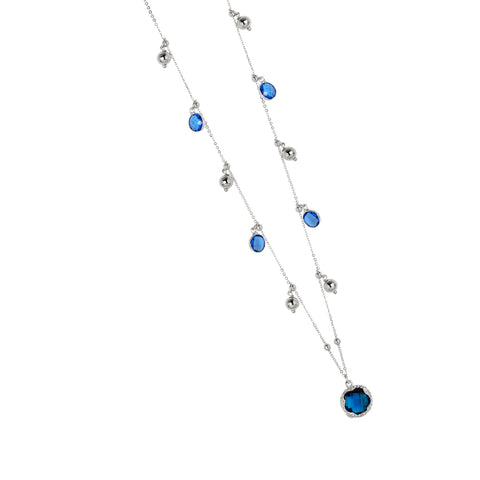 Related product : Collana con cristalli sapphire e blue london