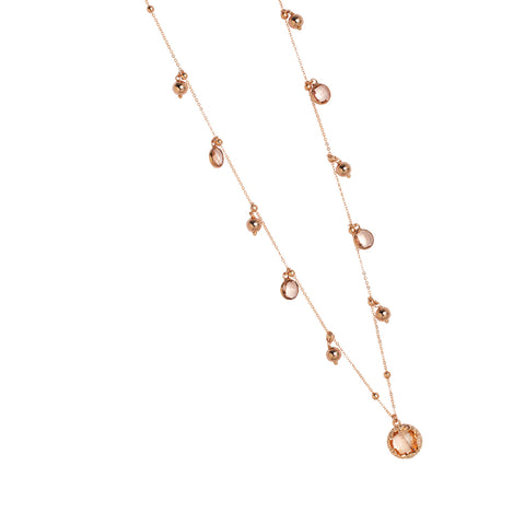 Related product : Collana rosata con cristalli peach