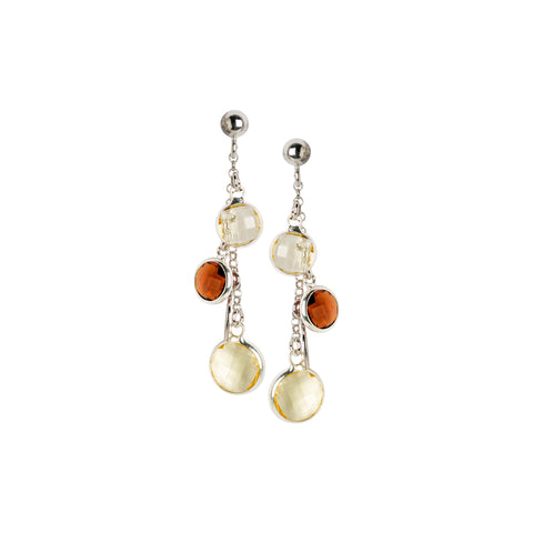 Related product : Orecchini pendenti con cristalli brown e light citrine