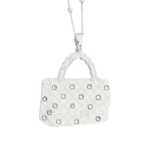 Related product : Collana con borsetta rodiata pendente e Swarovski