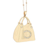Collana rosata con shopping bag pendente e Swarovski