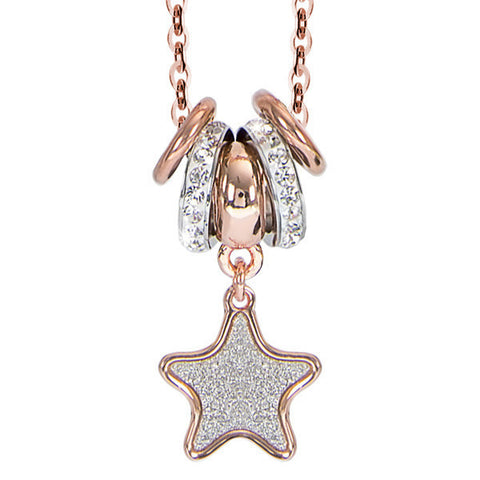 Related product : Collana placcata oro rosa e pendente glitterato a stella