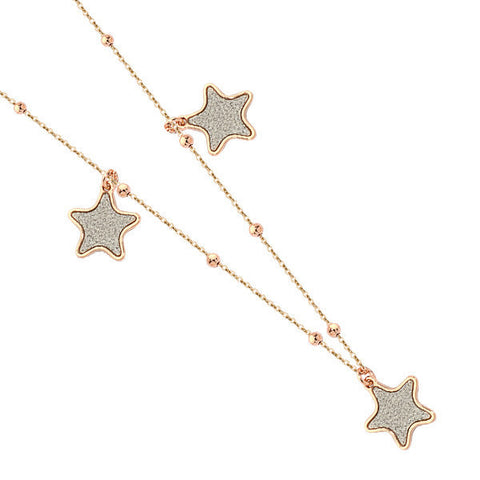 Related product : Collana con stelle glitterate placcate oro rosa