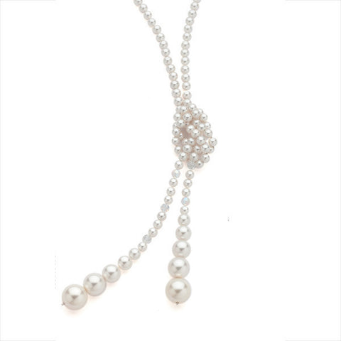 Related product : Collana in argento con perle Swarovski bianche