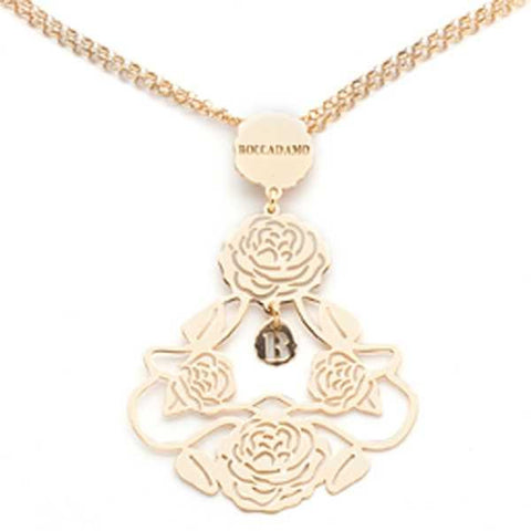 Related product : Collana in argento dorata con pendente composito di camelie