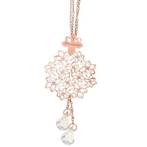 Related product : Collana in argento rosato con Swarovski crystal