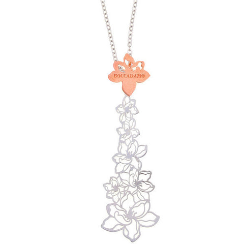 Related product : Collana in argento con ricco motivo floreale centrale