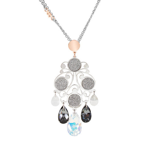 Related product : Collana in argento bicolor e Swarovski