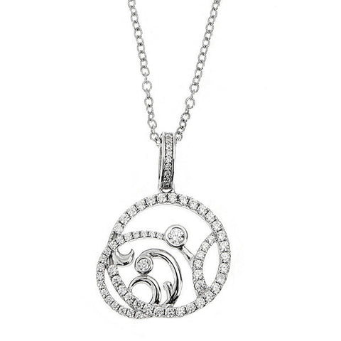 Related product : Collana in argento con pendente traforato e zirconi