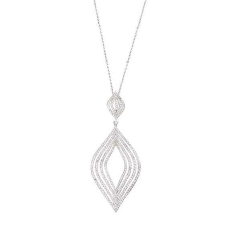 Related product : Collana in argento con losanghe degradè di zirconi