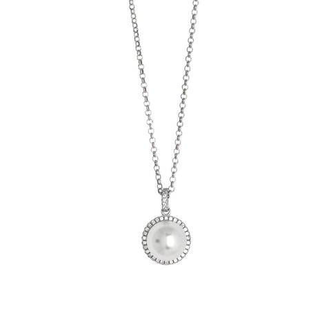 Related product : Collana con perla Swarovski su pavè di zirconi
