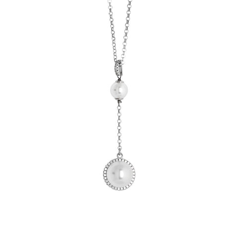 Related product : Collana con pendente in perle Swarovski e zirconi