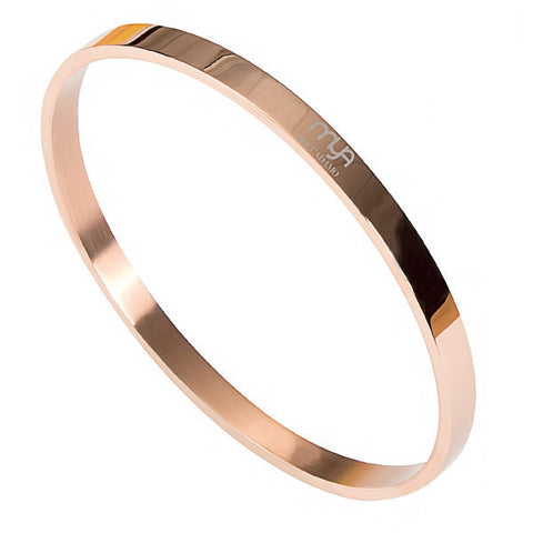Related product : Bracciale rigido placcato oro rosa con superficie liscia