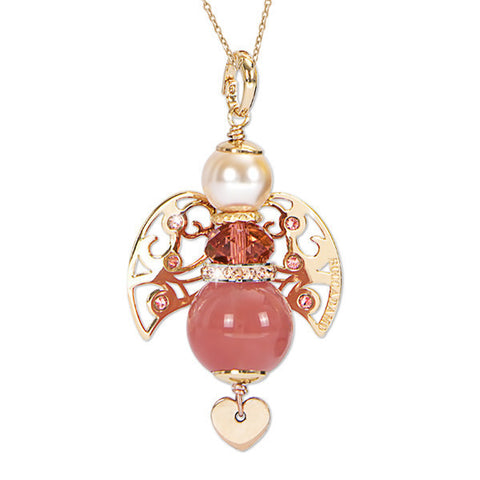 Related product : Collana con angelo in quarzo rosa fragola