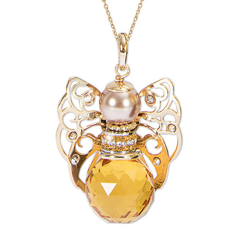 Related product : Collana con angelo in Swarovski topazio