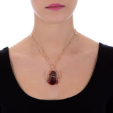 Collana con angelo in Swarovski bordeaux