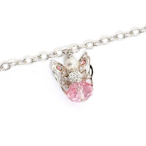 Related product : Bracciale con angelo mini pendente e Swarovski light rose
