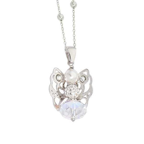 Related product : Collana con angelo mini in Swarovski boreale