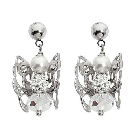 Related product : Orecchini con angelo mini pendente e Swarovski boreale