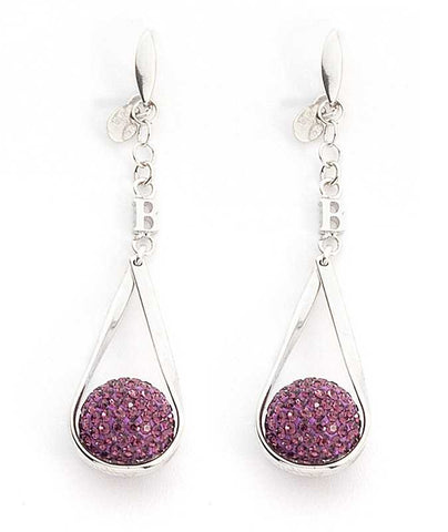 Related product : Orecchini in argento con boules di strass ametista