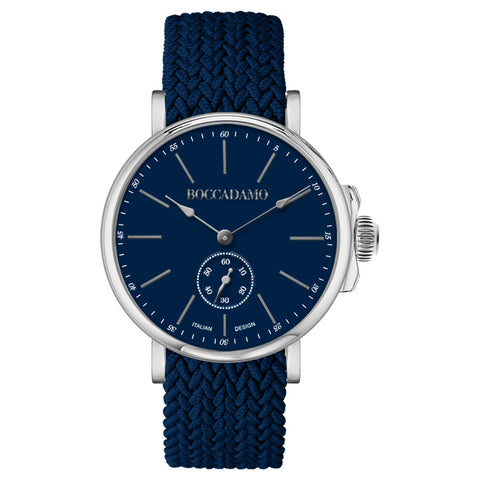 Related product : Orologio con quadrante blu e cinturino in nylon Perlon blu navy