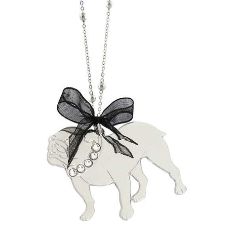 Related product : Collana rodiata con bull dog inglese pendente e Swarovski
