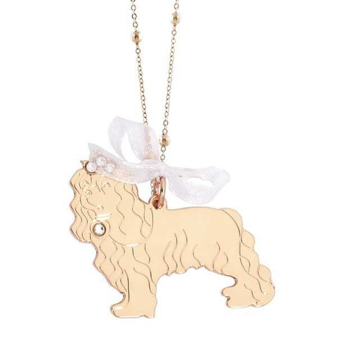 Related product : Collana rosata con cavalier king pendente e Swarovski