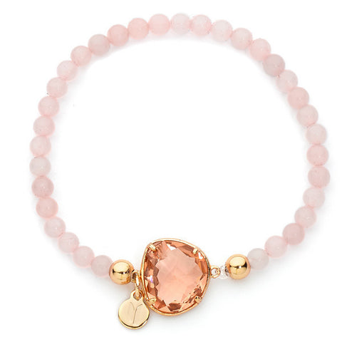 Related product : Bracciale con boules di quarzo rosa