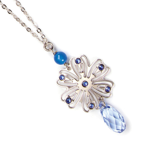 Related product : Collana con ghirlanda e Swarovski blu zaffiro