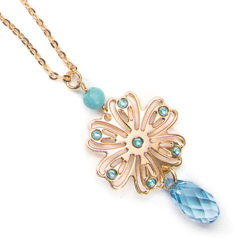 Related product : Collana con ghirlanda e Swarovski acqua marina