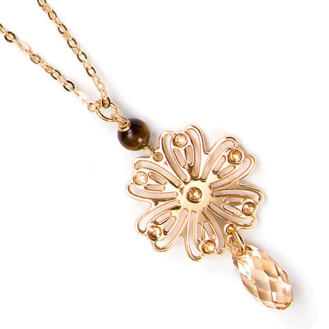 Related product : Collana con ghirlanda e Swarovski golden