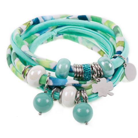 Bracciale in lycra trendy color ottanio