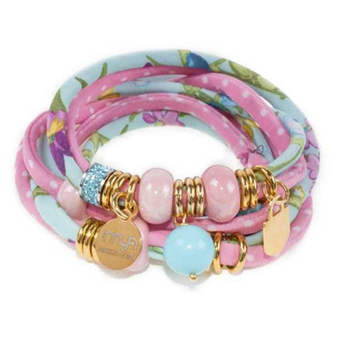 Related product : Bracciale in lycra trendy color rosa
