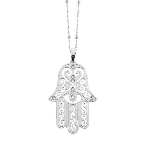 Related product : Collana con mano di fatima e cristalli Swarovski