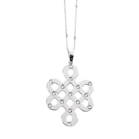 Related product : Collana con nodo tibetano e cristalli Swarovski