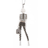 Collana bambolina con outfit crystal e color ematite