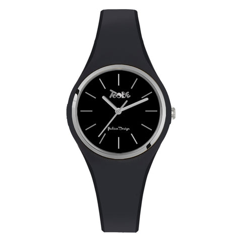 Related product : Orologio donna in silicone anallergico nero e ghiera silver