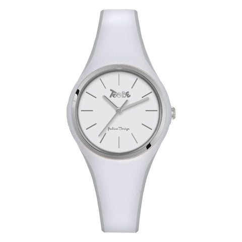 Related product : Orologio donna in silicone anallergico bianco e ghiera silver