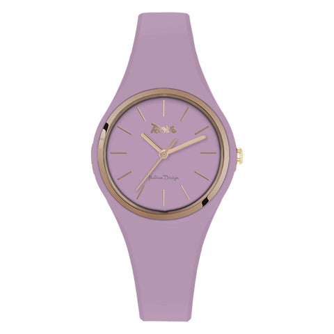 Related product : Orologio donna in silicone anallergico glicine e ghiera rosata