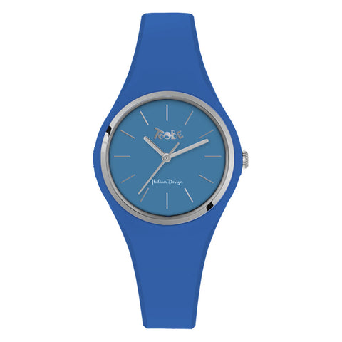 Related product : Orologio donna in silicone anallergico denim e ghiera silver