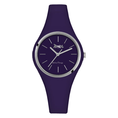 Related product : Orologio donna in silicone anallergico indaco e ghiera silver