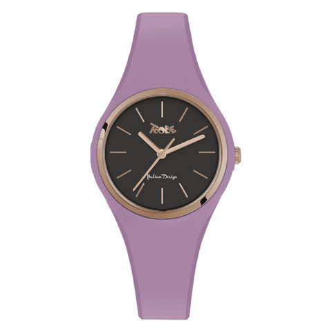 Related product : Orologio donna in silicone anallergico lavanda e ghiera rosata