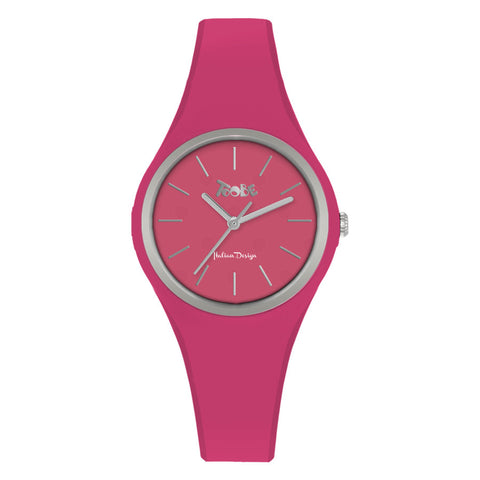 Related product : Orologio donna in silicone anallergico fucsia e ghiera silver