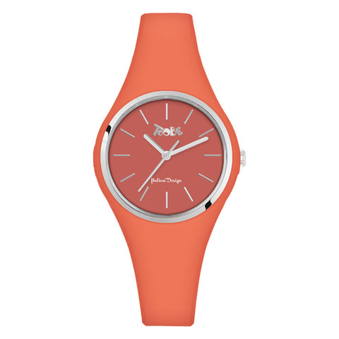 Related product : Orologio donna in silicone anallergico arancione e ghiera silver