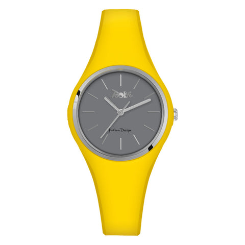 Related product : Orologio donna in silicone anallergico giallo e ghiera silver
