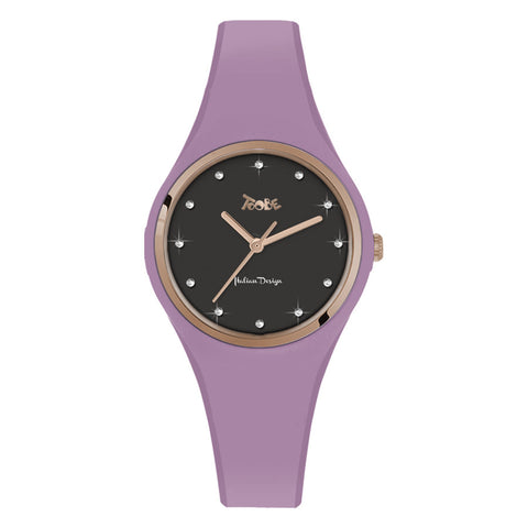 Related product : Orologio donna in silicone anallergico lavanda ed indici in Swarovski