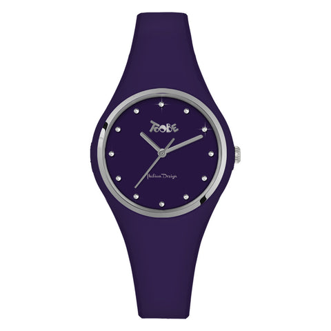 Related product : Orologio donna in silicone anallergico indaco ed indici in Swarovski