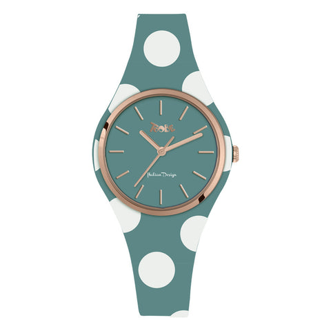 Related product : Orologio donna in silicone anallergico carta da zucchero con pois bianchi